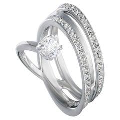 Swarovski Fresh Rhodium-Plated Crystal Swirl Ring