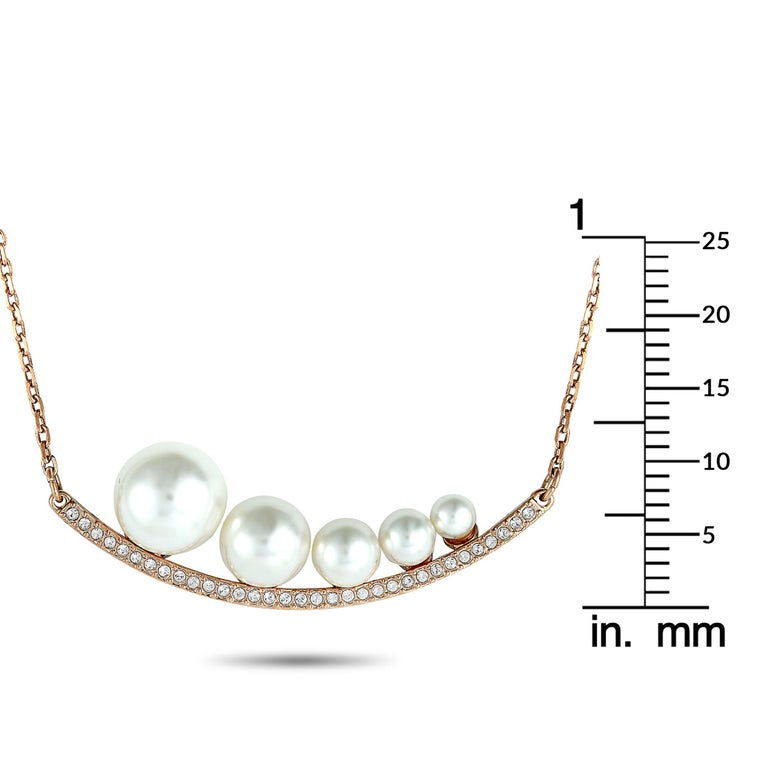 Swarovski Fundamental Crystal and Crystal Pearl Necklace In New Condition For Sale In Southhampton, PA