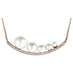 Swarovski Fundamental Crystal and Crystal Pearl Necklace