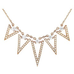 Swarovski Funk Rose Gold-Plated Crystal Chain Necklace