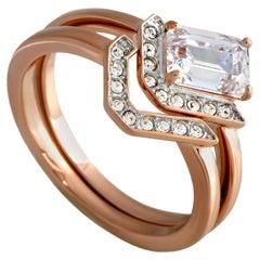 Swarovski Gallery Rose Gold-Plated Crystal Ring Set