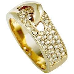 Swarovski Gallon Gold-Plated and Crystal Interlocking Band Ring