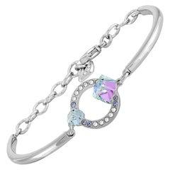 Swarovski Geometric Stainless Steel and Crystal Bangle Bracelet