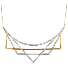 Swarovski Geometry White and Rose Gold-Plated Crystal Necklace