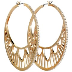 Swarovski Georgette Stainless Steel and Crystal Hoop Earrings