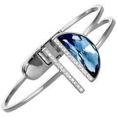 Swarovski Glow Crystal Bangle Openwork Bracelet