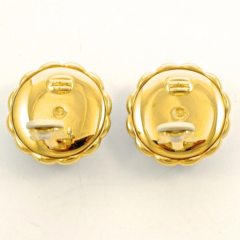 Swarovski Gold Plated Amber and Clear Pavé Crystal Swan Logo Clip On Earrings In Good Condition For Sale In London, GB