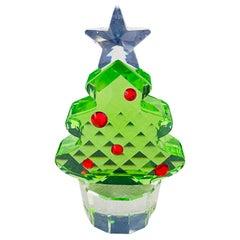 Swarovski Green Crystal Figurine Christmas Tree
