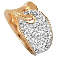 Swarovski Guardian Stainless Steel Rose Gold-Plated and Crystal Interlocking Ban
