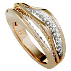 Swarovski Hilly Rose Gold-Plated Crystal Ring