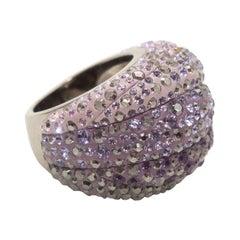 Swarovski Lilac Crystal-Embellished Cocktail Ring