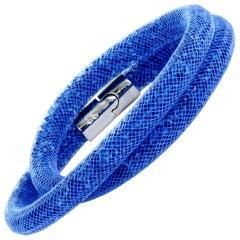 Swarovski Stardust Blue Crystals Double Bracelet 5184789-M Medium