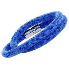 Swarovski Stardust Blue Crystals Double Bracelet 5184789-M- Medium