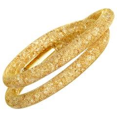 Swarovski Stardust Deluxe Golden Crystal Double Wrap Bracelet