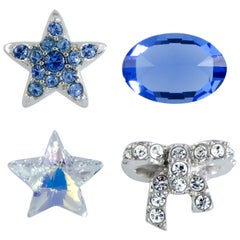 Swarovski Treasure Set Clear and Blue Crystals Four-Piece Set 5071289
