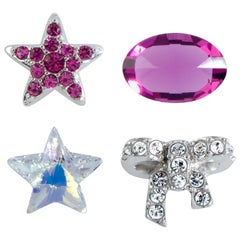 Swarovski Treasure Set Clear and Fuchsia Crystals Four-Piece Set 5071287