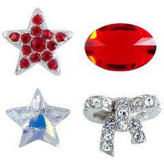 Swarovski Treasure Set Clear and Siam Red Crystals Four-Piece Set 5071288