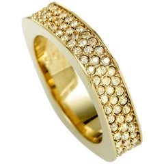 Swarovski Vio Gold-Plated Crystal Pave Ring