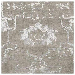 Swatch for Arte Rug in Silver / White by Ben Soleimani
