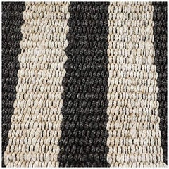 Swatch for Banna Rug in Black / Natural by Ben Soleimani