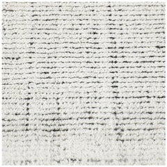 Swatch for Distressed Wool Rug in Ivory Charcoal by Ben Soleimani