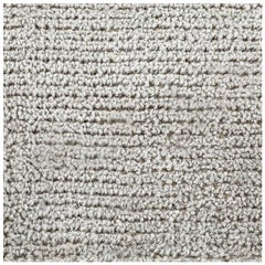 Swatch for Distressed Wool Rug in Platinum by Ben Soleimani