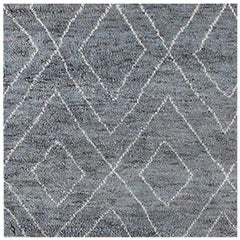 Swatch for Double Diamond Moroccan Rug in Grey / White by Ben Soleimani
