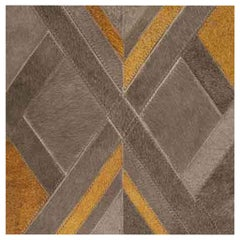 Swatch for Harrington Hide Rug in Charcoal/Gold by Ben Soleimani