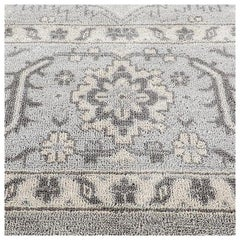 Swatch for Katya Rug in Grey and Light Grey by Ben Soleimani