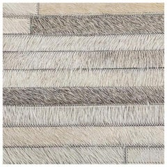 Swatch for South American Cowhide Stripe Rug – Grey by Ben Soleimani