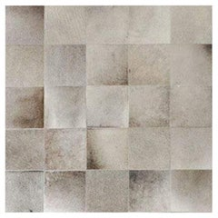 Swatch for South American Cowhide Tile Rug – Steel by Ben Soleimani