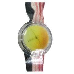 Swatch Watch 1991 Bonjuhr Artist Series Watch Alfred Hofkunst Bacon New