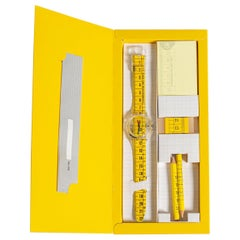 Swatch Watch SPECIAL METRICA yellow - GK263 Pack Crayon, 1998