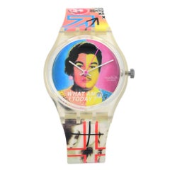 "Swatch ""What Am I Today"" Silicone Strap Quartz Unisex Watch 1144"