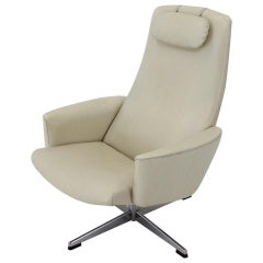 Sweden Beige Swivel Chair for Asko, 1970s