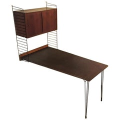 Sweden Mid-Century Modern Solid Teak Desk by Nisse Strinning for String, 1960s