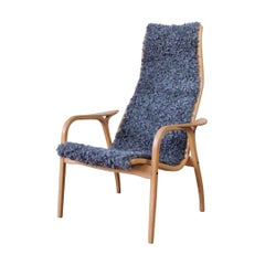 Swedese Yngve Ekström Lamino Sheepskin Easy Chair, circa 1960s