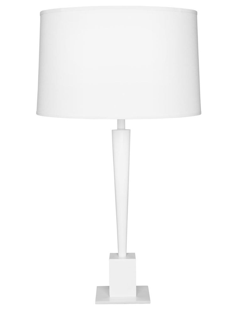 Swedge Table Lamp With Nickel Base And Black Shade By Powell And