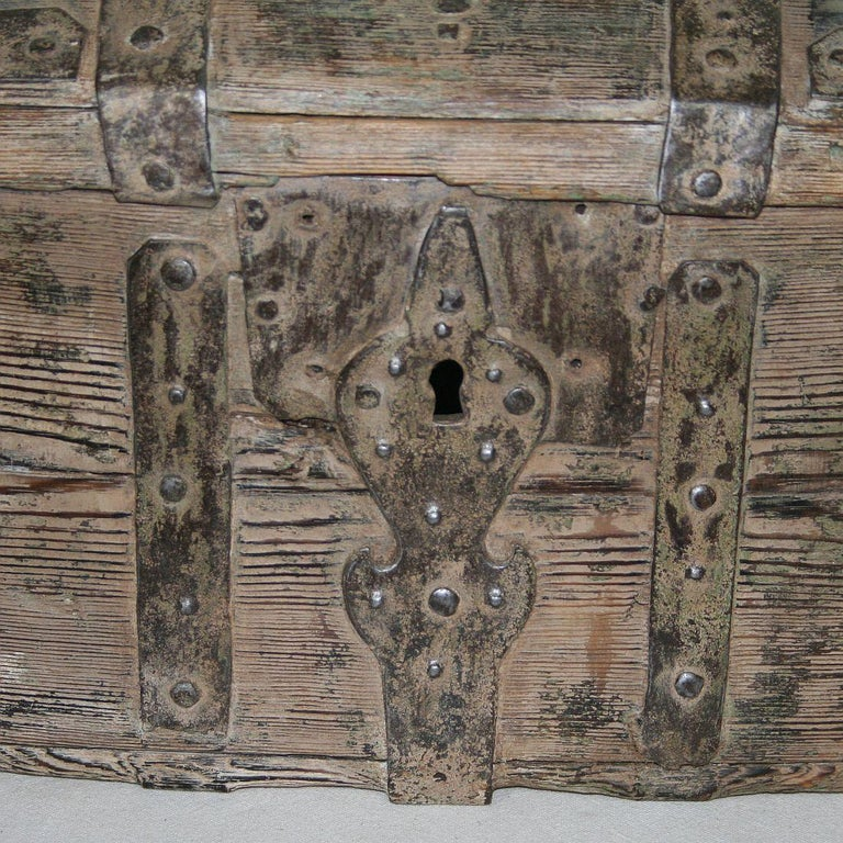 Swedish 18th Century Bentwood Travel Box or Chest 7
