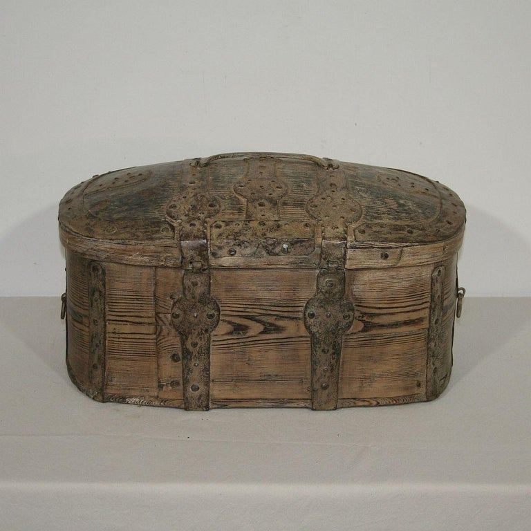 18th Century and Earlier Swedish 18th Century Bentwood Travel Box or Chest