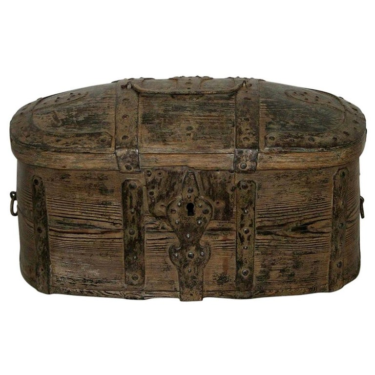 Swedish 18th Century Bentwood Travel Box or Chest