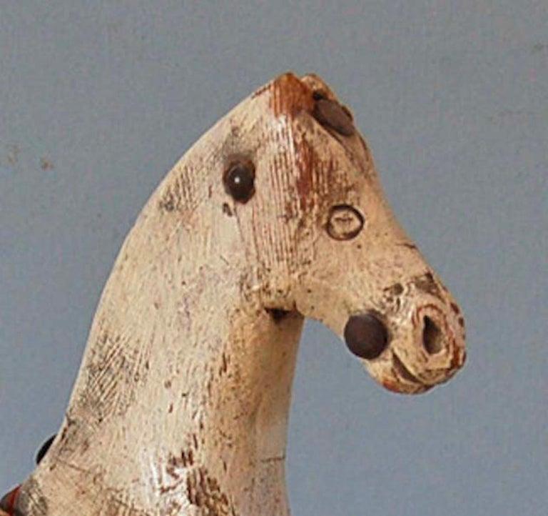 Folk Art Swedish 18th Century Dala Horse, Origin: Sweden, Circa 1750 For Sale