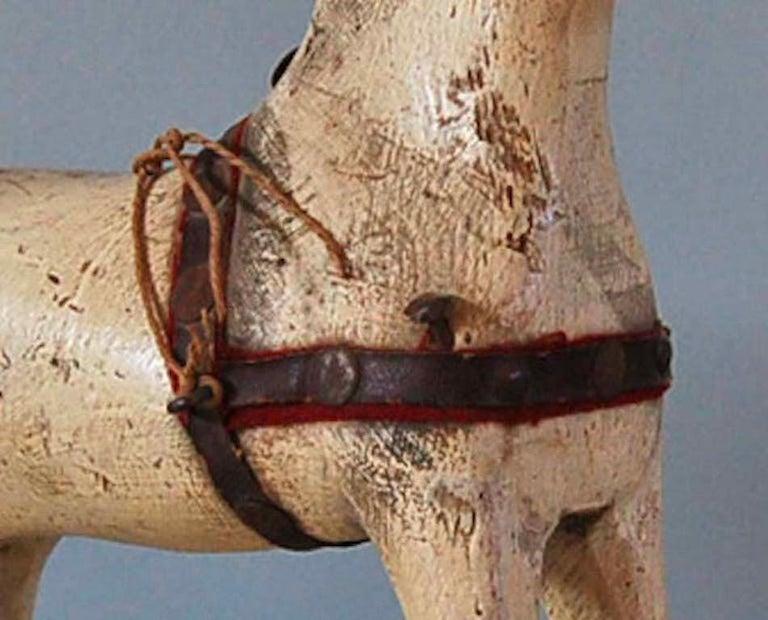 Hand-Carved Swedish 18th Century Dala Horse, Origin: Sweden, Circa 1750 For Sale
