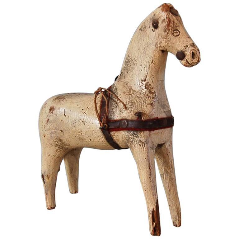 Swedish 18th Century Dala Horse, Origin: Sweden, Circa 1750 For Sale