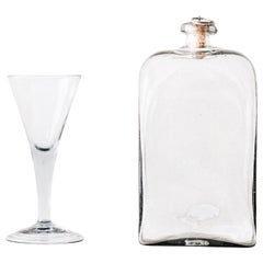 Swedish 18th Century Flask with Glass