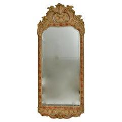 Swedish 18th Century Giltwood Rococo Mirror