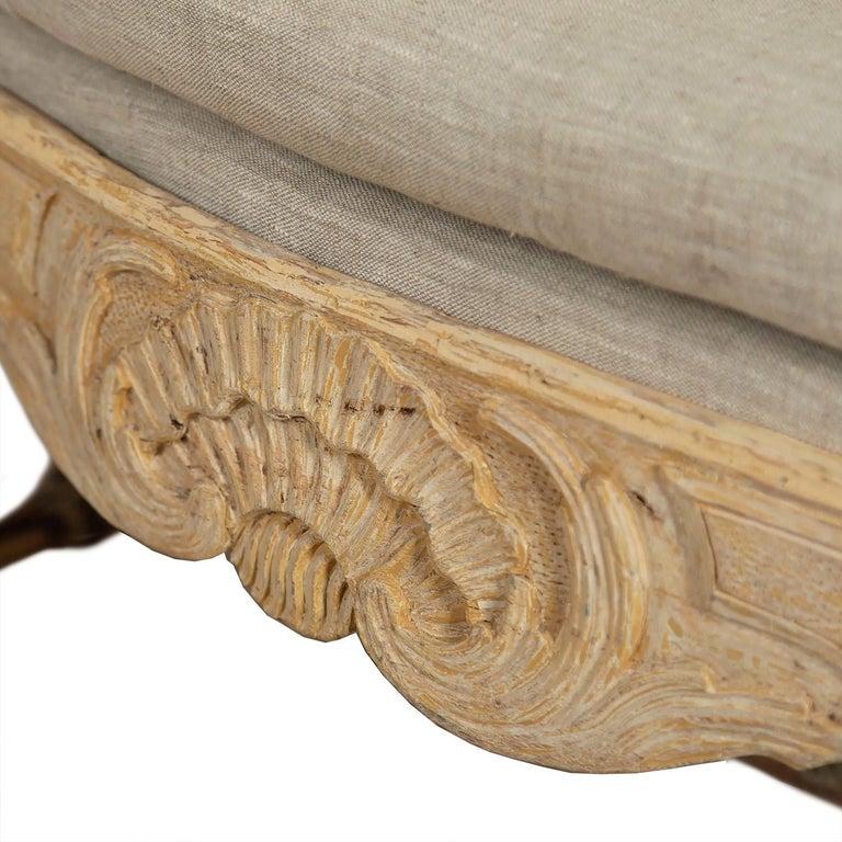 Swedish 18th Century Period Original Paint Rococo Sofa For Sale 1