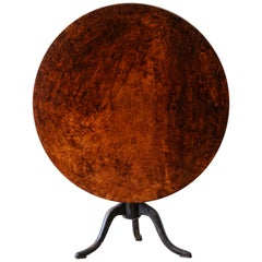 Swedish 18th Century Rococo Tilt-Top Table