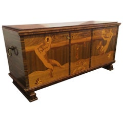Swedish 1920s Art Deco Sideboard in the Manner of Carl Malmsten