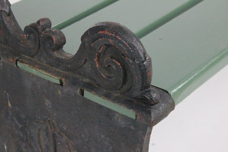 Swedish 1920s Cast Iron Park Bench Designed by Folke Bensow For Sale 6